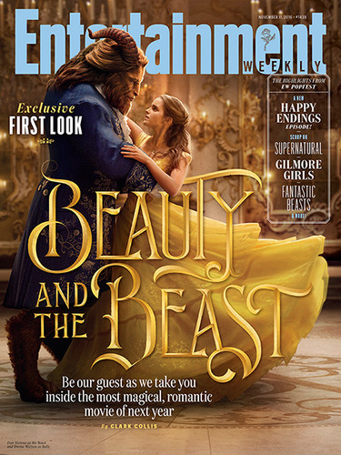 Beauty and the Beast (2017) wallpaper probably containing a sign and Anime titled Beauty and the Beast - EW Magazine
