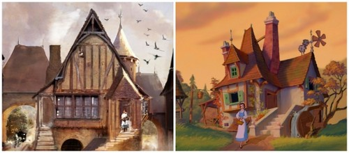Beauty and the Beast (2017) wallpaper probably with a lychgate entitled Beauty and the Beast bts