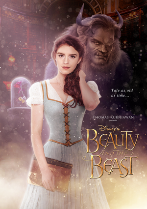 Beauty and the Beast peminat art poster