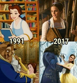 Beauty and the Beast from 1991 to 2017