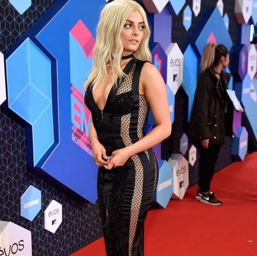 Bebe Rexha wolpeyper possibly with hosiery, tights, and a legging entitled Bebe Rexha at EMAS