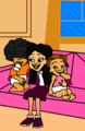 Bebe and Cece I love u guys door Penny Proud