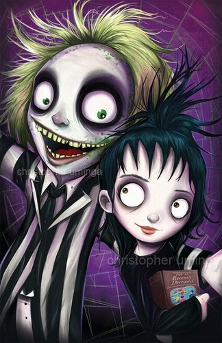 Tim burton kertas dinding possibly with Anime called Beetlejuice sejak Christopher Uminga