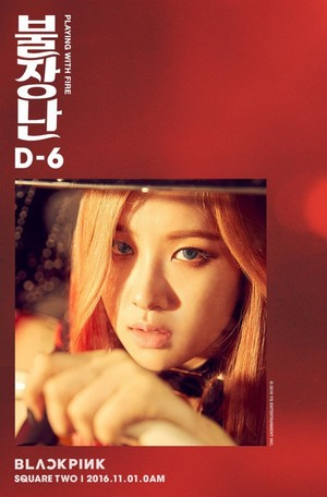 Black گلابی reveal teaser تصاویر of Jisoo and Rose for 'Playing With Fire'