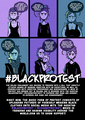 Black Protest - human-rights fan art