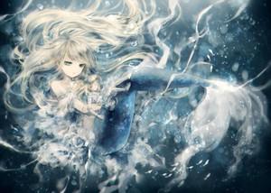 Blue 아니메 Mermaid