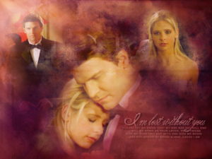 Buffy/Angel wallpaper - I Am lost Without anda