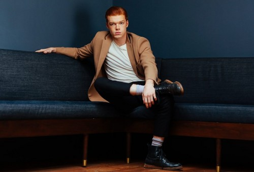 Cameron Monaghan achtergrond containing a business suit and a divan, bank titled Cameron Monaghan - Bellus Magazine Photoshoot - October 2016