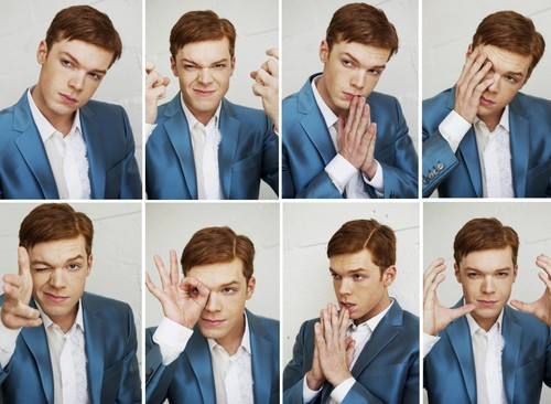 Cameron Monaghan achtergrond possibly containing a business suit and a suit entitled Cameron Monaghan - Black Chalk Photoshoot - November 2016
