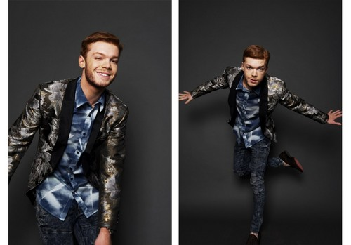 Cameron Monaghan achtergrond with a well dressed person entitled Cameron Monaghan - Black Chalk Photoshoot - November 2016