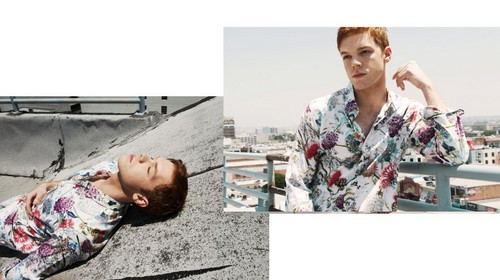 Cameron Monaghan achtergrond probably containing a badjas titled Cameron Monaghan - Black Chalk Photoshoot - November 2016