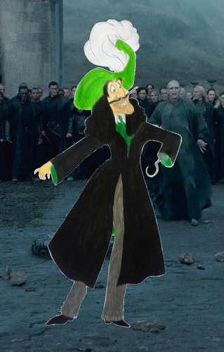 Childhood Animated Movie Characters Обои entitled Captain Hook in Slytherin