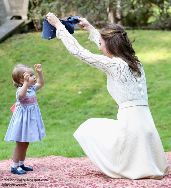Catherine  Duchess of Cambridge and Princess Charlotte in Canada