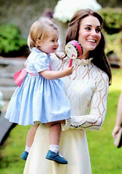 Catherine Duchess of Cambridge and Princess Charlotte of Cambridge
