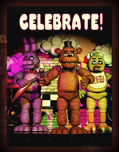 Five Nights at Freddy's karatasi la kupamba ukuta probably with anime titled Celebrate Poster
