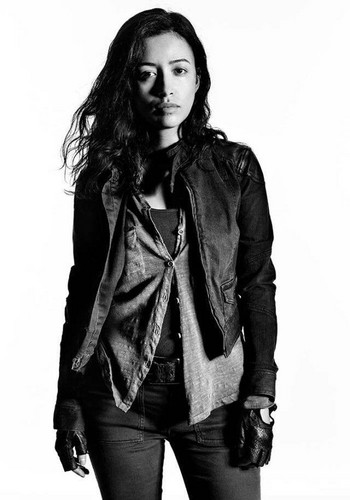 The Walking dead wallpaper probably containing a hip boot and an outerwear called Character Portrait #2 ~ Rosita Espinosa