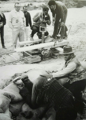 Clint Eastwood, Sergio Leone, and Eli Wallach on the set of The Good, the Bad, and the Ugly