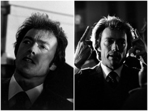 Clint Eastwood on the set of Dirty Harry 1971