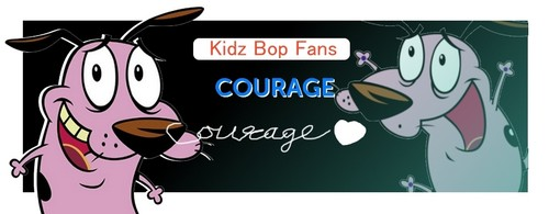 Courage the Cowardly Dog Hintergrund possibly with a sign and Anime called Congrats! 29 Percent to Kidz Bop answer. Courage the Kidz Bop dog