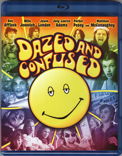 Dazed and Confused Hintergrund probably containing a sign, a lunch, and Anime entitled Dazed and Confused blu strahl, ray front cover