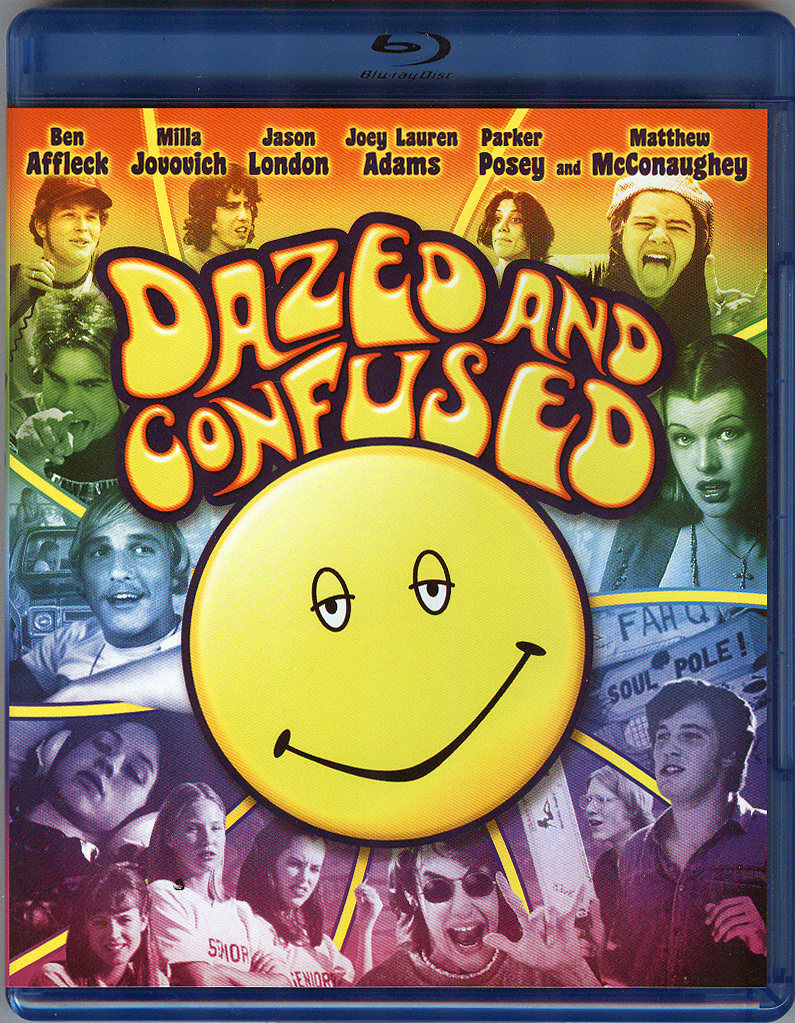 Dazed and Confused blu ray front cover
