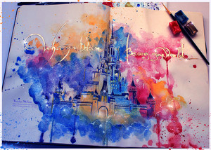 Disney castello da kinkowhite