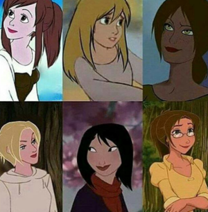 Disney girls as SnK girls