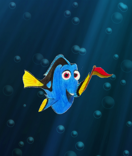 Childhood Animated Movie Characters wallpaper called Dory in Gryffindor