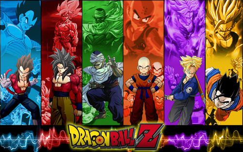 dragon ball z wallpaper probably containing a stained glass window and anime called Dragon Ball z wallpaper gambar