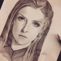 Drawing of Anna Kendrick - hottest-actresses fan art