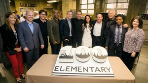 Elementary cast and crew-100th episode