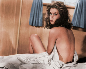 Elizabeth Montgomery Bed colorized