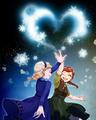 Elsa and Anna - frozen fan art