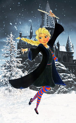 Childhood Animated Movie Characters wallpaper called Elsa in Ravenclaw