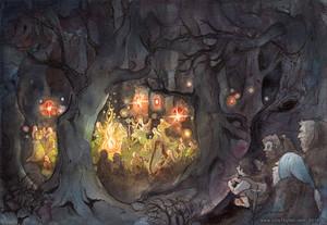 Elvish Feast in Mirkwood por ullakko
