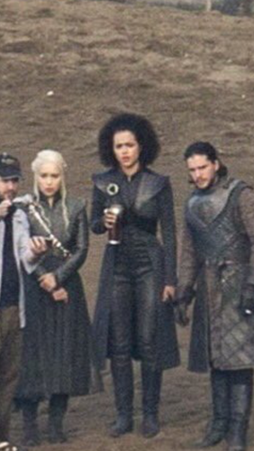 Game of Thrones wallpaper probably containing a business suit and a well dressed person entitled Emilia, Nathalie and Kit