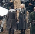 Emilia and Kit BTS Season 7 - game-of-thrones photo