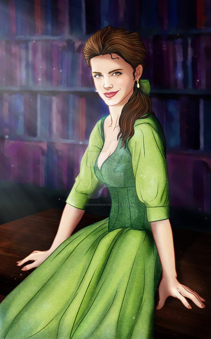 Emma Watson as Belle Fan art