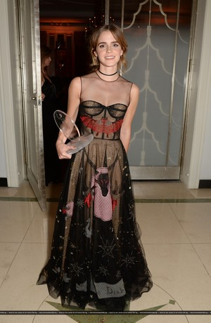 Emma Watson attends the Harper's Bazaar Women of the Year Awards 2016 at Claridge's Hotel on October