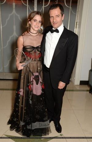 Emma Watson attends the Harper's Bazaar Women of the an Awards 2016 at Claridge's Hotel on October