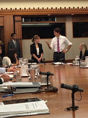 Emma Watson met Justin Trudeau today in Ottawa, Canada [September 28, 2016]
