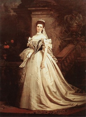 Empress Elisabeth of Austria on the dag of her coronation as Queen of Hungary