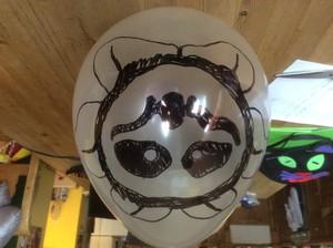 Flowey balloon for Halloween.