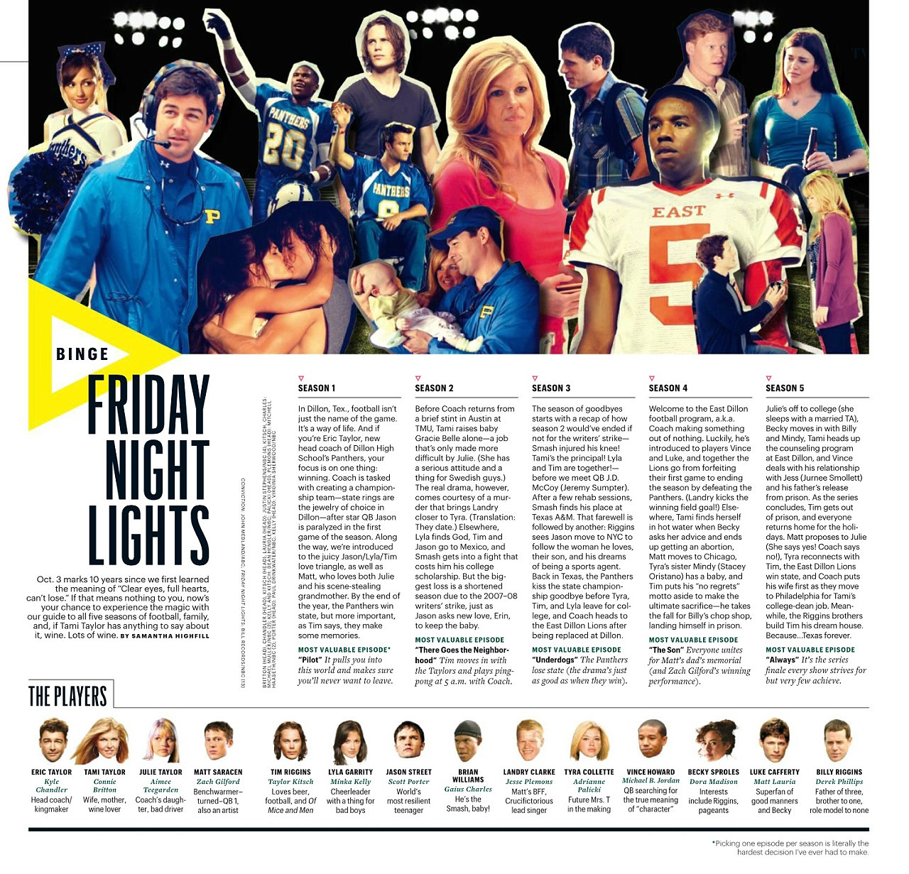 Friday Night Lights in Enteratinment Weekly - October 2016