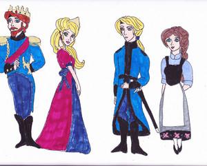 Frozen feuer concept art - Hans & Helga's parents