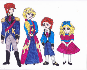 Frozen brand concept art - The Southern Isles royal family