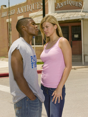 Gaius Charles as Smash Williams and Adrianne Palicki as Tyra Collette