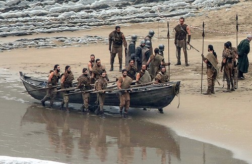 Game of Thrones wallpaper possibly containing a sampan and a dugout canoe titled Game of Thrones- Season 7- Filming