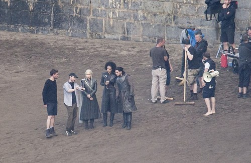 Game of Thrones wallpaper possibly with a portcullis and a street titled Game of Thrones- Season 7- Filming