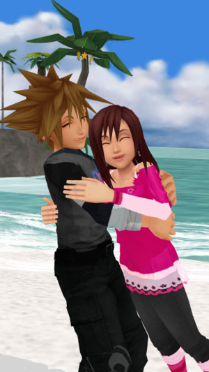 Happy Feelings amor and Care SoKai día Sora x Kairi.